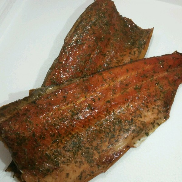Orange and Dill Smoked Trout