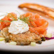Hash Brown Frittata and Cold Smoked Salmon