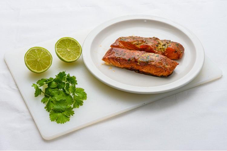 Lime & Coriander Roast Smoked Salmon